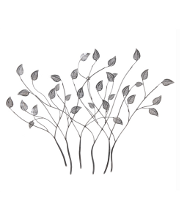 Silver Leaves Modern Metal Wall Art