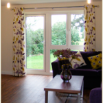 Made,To,Measure,Eyelet,curtains,chrome,pole,upholstered,sofa,piped,cusions